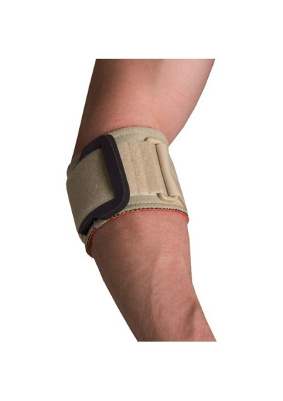 Elbow wrap with pressure pad